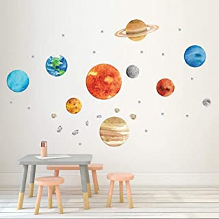 OFISSON Large Planets Sun Earth and so on (32 pcs) Solar System Wall Sticker Peel and Stick Decal, Baby Room Wall Decor, S...