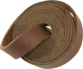 Hide & Drink, Thick Leather Strap 3.5mm, 3/4 inches Wide, 48 inches Long/Craft Workshop Handmade :: Bourbon Brown