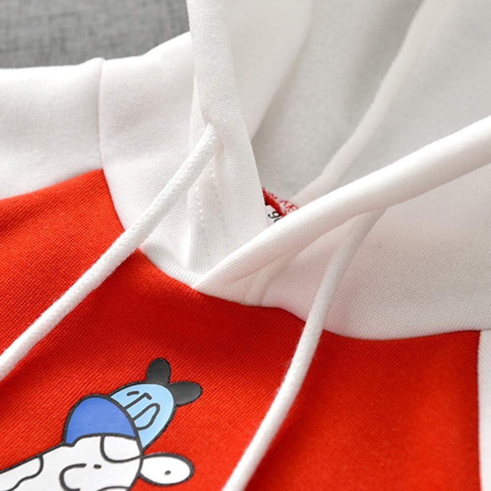 KONFA Teen Toddler Baby Boys Girls Winter Warm Clothes,Hooded Sweatshirt Coat,Kids Cartoon Giraffe Hoodie Pullover
