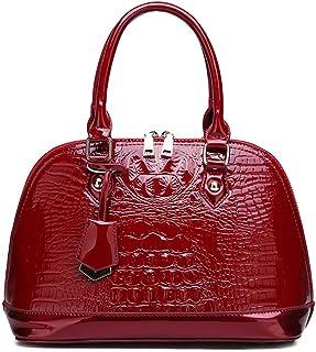 BUKESIYI Damen Tasche Umhängetasche Handtasche Frauen Klein Schultertasche Weekender Lack PU Leder CCDE77138