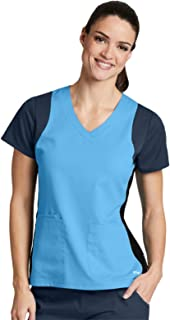 Grey's Anatomy Active 41465 Tricolor Racer V-Neck