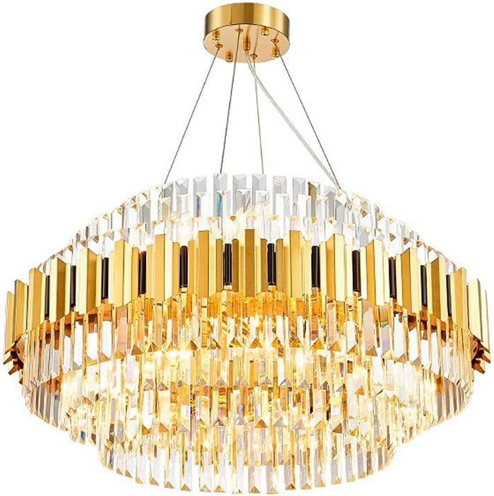 lydq, lampadario di cristallo moderno,in titanio satinato piu` acciaio inossidabile 384-190-771