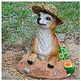 Chuanhao Suricates Décoration de jardin en résine - Statue réaliste en forme d'animaux pour jardin ou cour