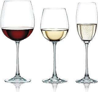 Spiegelau & Nachtmann, 18-teiliges Gläser-Set, Rotwein/Weißwein/Champagner, Kristallglas, 727/378/272 ml, Vivendi, 0088260-0