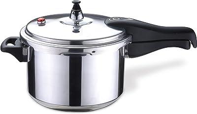 Bene Casa - Aluminum Pressure Cooker (4 Quart) - Includes Pressure Alarm and a Sure-locking Lid System - Dishwasher Safe