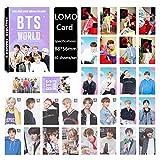 ALTcompluser 30 Blätter Kpop BTS Lomo Photocard/Fotokarten, Bangtan Boys Jungkook,Jimin,V,Suga,Jin,J-Hope, RM Lomo Cards/Karten(World OST)