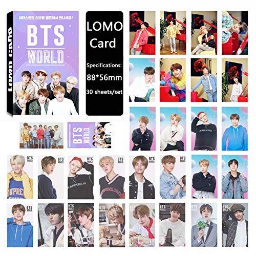 Saicowordist 30 Vellen Kpop BTS Bangtan Jongens Wereld OST LOMO Kaarten Set HD Foto's Kleine Kaarten Polaroid Fotokaarten A.R.M.Y Hot Gift