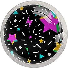 AITAI Zwarte sterren ronde kast knop 4 Pack trekt handgrepen