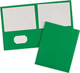 Avery 47987 Two-Pocket Folder, 40-Sheet Capacity, Green (Box of 25)