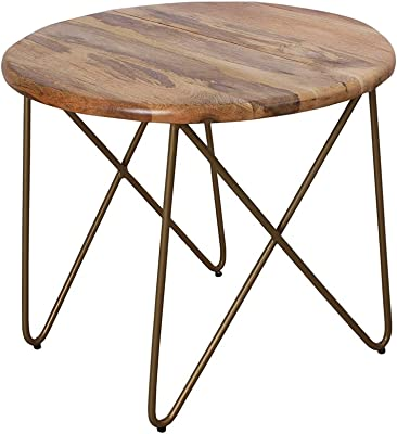 Store Indya Classic Wooden Coffee Table Modern Out Door Tea Table Made From Mango Wood For Living Room Amazon In Electronics