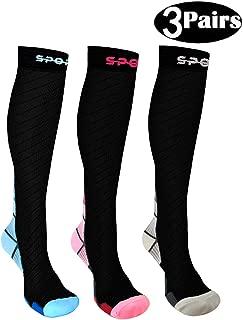 DUOSTICK Compression Socks (20-30mmHg) for Men Women Best Stockings for Running