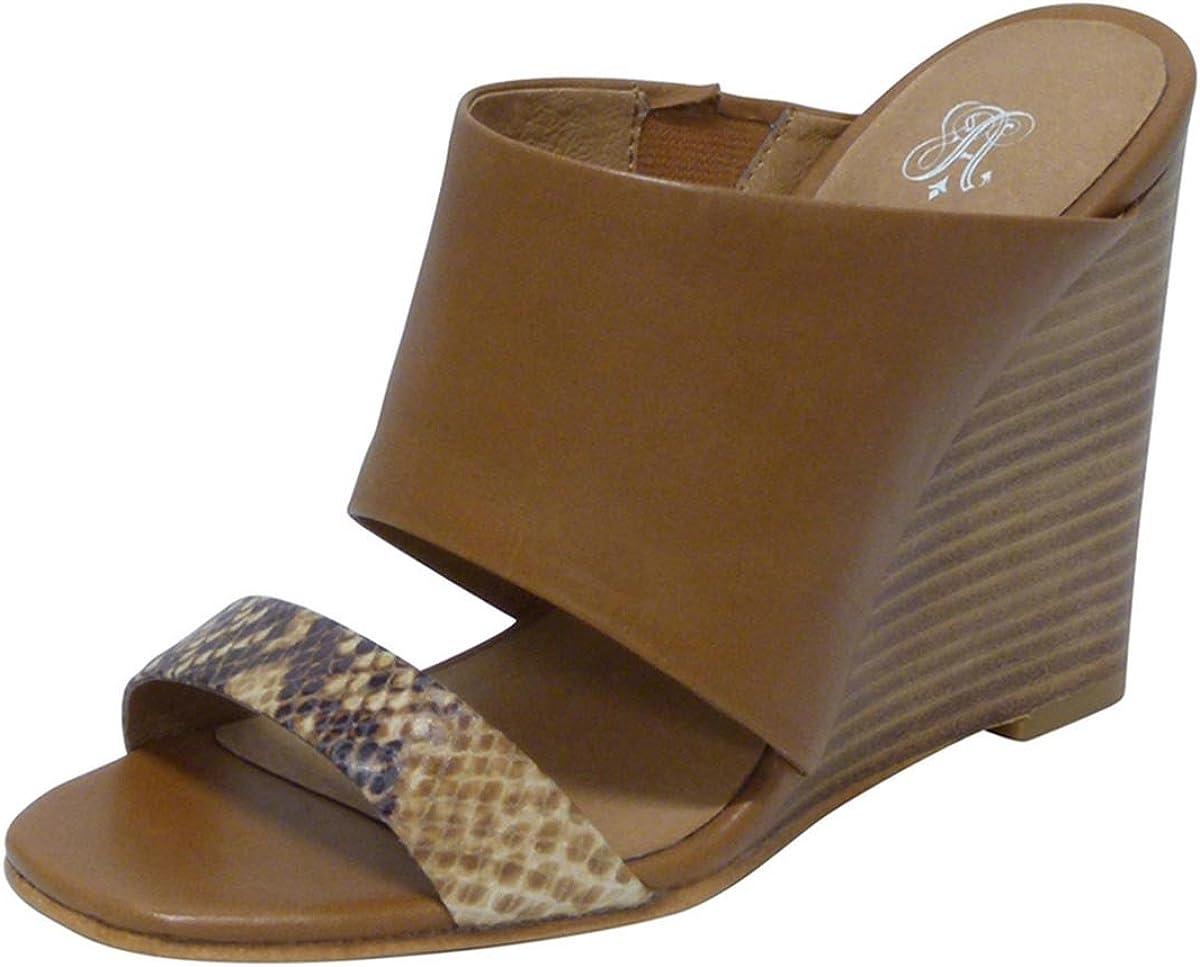 ANDREW STEVENS Geneva Leather discount Wedge Hi for Sandals Women Japan Maker New Slide