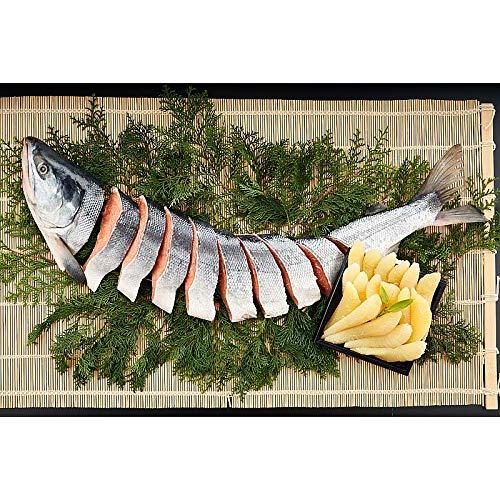 ( 産地直送 お取り寄せグルメ ) 北海道産新巻鮭・数の子セット(半身切り身、味付け数の子200g)