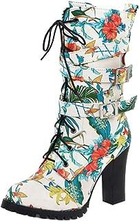 Zanpa Women Fashion Martin Boots Ankle High