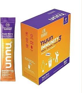 Nuun Immunity3, Electrolyte powder, Elderberry, Vitamins, Prebiotics, Zinc, Super Berry, 14 count