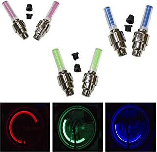 AllTopBargains 2-Piece Zupa Wheely Lights LED Motion Activated Bike Wheel Spoke Lights Bicycle