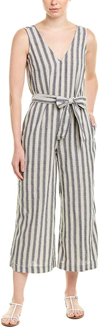 Max Studio Womens Tampa Mall Cropped Max 81% OFF Striped Jumpsuit