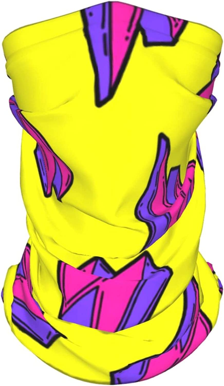 Cartoon Thunder Bolts Neck Gaiter Multipurpose Headwear Ice Silk Mask Scarf Summer Cool Breathable Outdoor Sport 4 Pcs