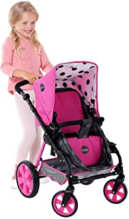 Hauck Toys for kids iCoo 3 in 1 Doll Stroller, Black and Pink