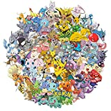 Stickers for Pokemon [100pcs], Vinyl Sticker for Laptop Water Bottle Hydro Flask Bike Car Motorcycle Bumper Luggage Skateboard Graffiti, Cute Pikachu Monsters Decal, Best Gift for Kids,Children,Teen