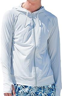 [アウニイ] 着る日焼け止め メンズ ラッシュガード 軽量 速乾 UPF50+ UVカット 長袖 指穴付き オリジナルプリント