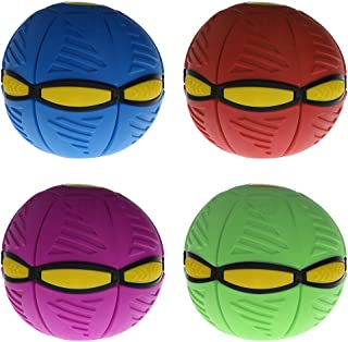 Fifimin Flying UFO Flat Throw Disc Ball with Ĺѐḍ Light and Music Magic Flying Ball