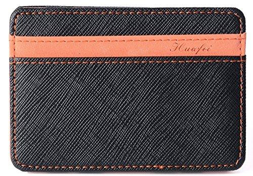 Yuson Girl Portafoglio Magico in simili cuoio - magic wallet Credit Card Holder - porta moneta (Arancione)