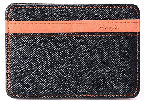 Yuson Girl Portafoglio Magico in simili cuoio - magic wallet Credit Card Holder - porta moneta (Arancione)