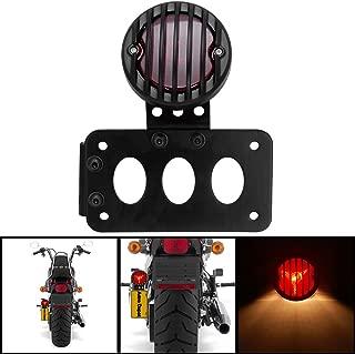 Vertical Side Mount License Plate Tail Light Bracket for Harley Bobber Chopper by Tmsuschina