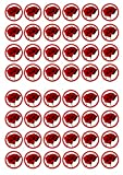 48 Rose Flower Edible PREMIUM THICKNESS SWEETENED VANILLA, Wafer Rice Paper Cupcake Toppers/Decorations