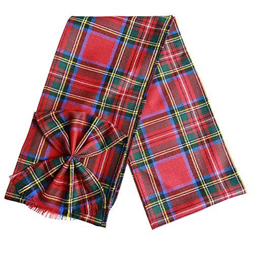 Ingles Buchan - Petite écharpe écossaise - femme - avec noeud plissé - tartan - Ramsay - 112 x 13 cm