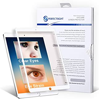 PERFECTSIGHT Screen Protector Compatible iPad Pro 12.9 Inch [HD Clear Eye Care] 55% Blue Light Filter Anti Fingerprint Tempered Glass
