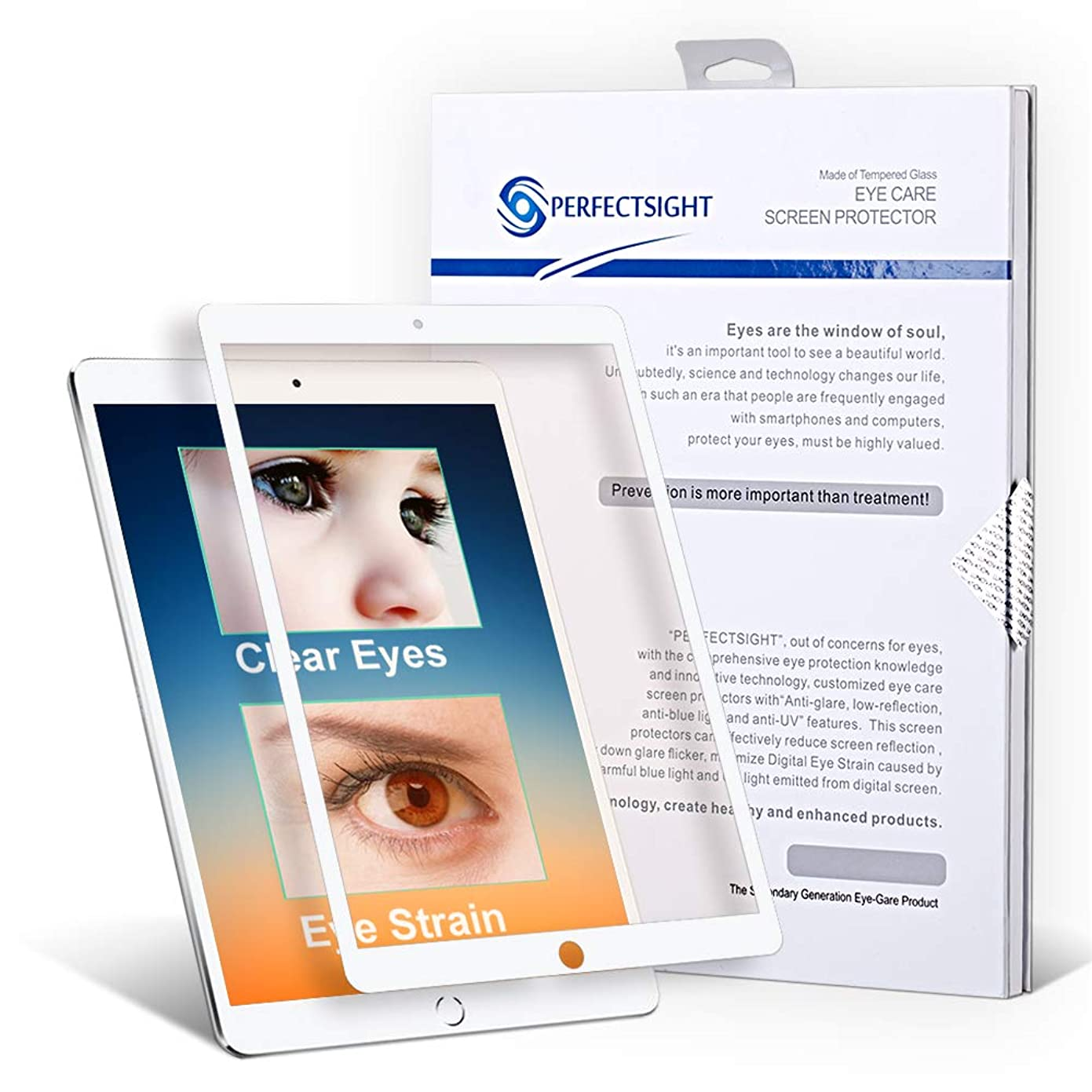 PERFECTSIGHT Screen Protector Compatible iPad Pro 12.9 Inch [HD Clear Eye Care] 55% Blue Light Filter Anti Fingerprint Tempered Glass cv54721839