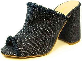 Tamanco Salto Alto Grosso Luiza Sobreira Jeans Escuro Mod. 4003-2