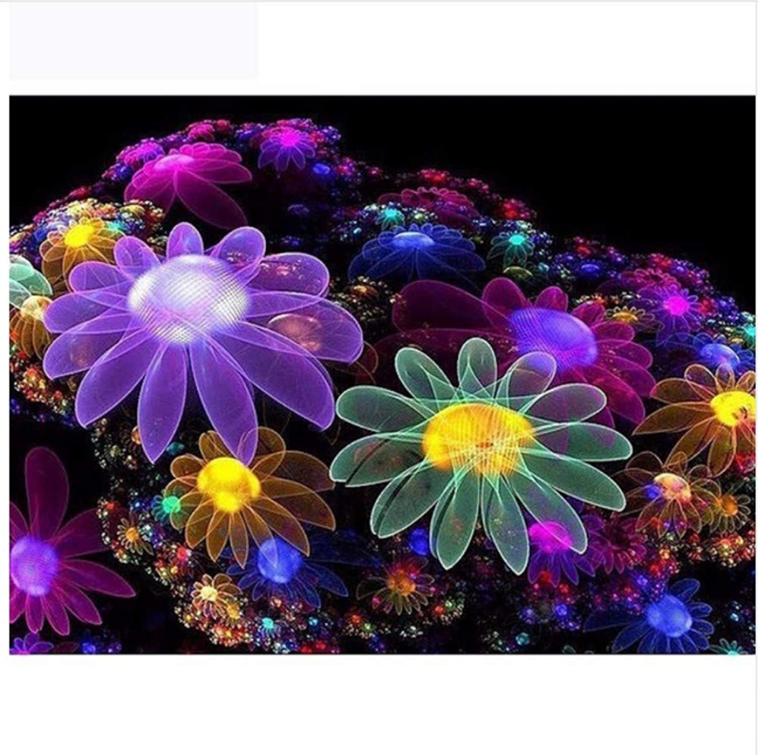 Jigsaw Puzzle 1000 Piece Glowing Flower Classic Puzzle DIY Kit Wooden Toy Unique Gift Home Decor