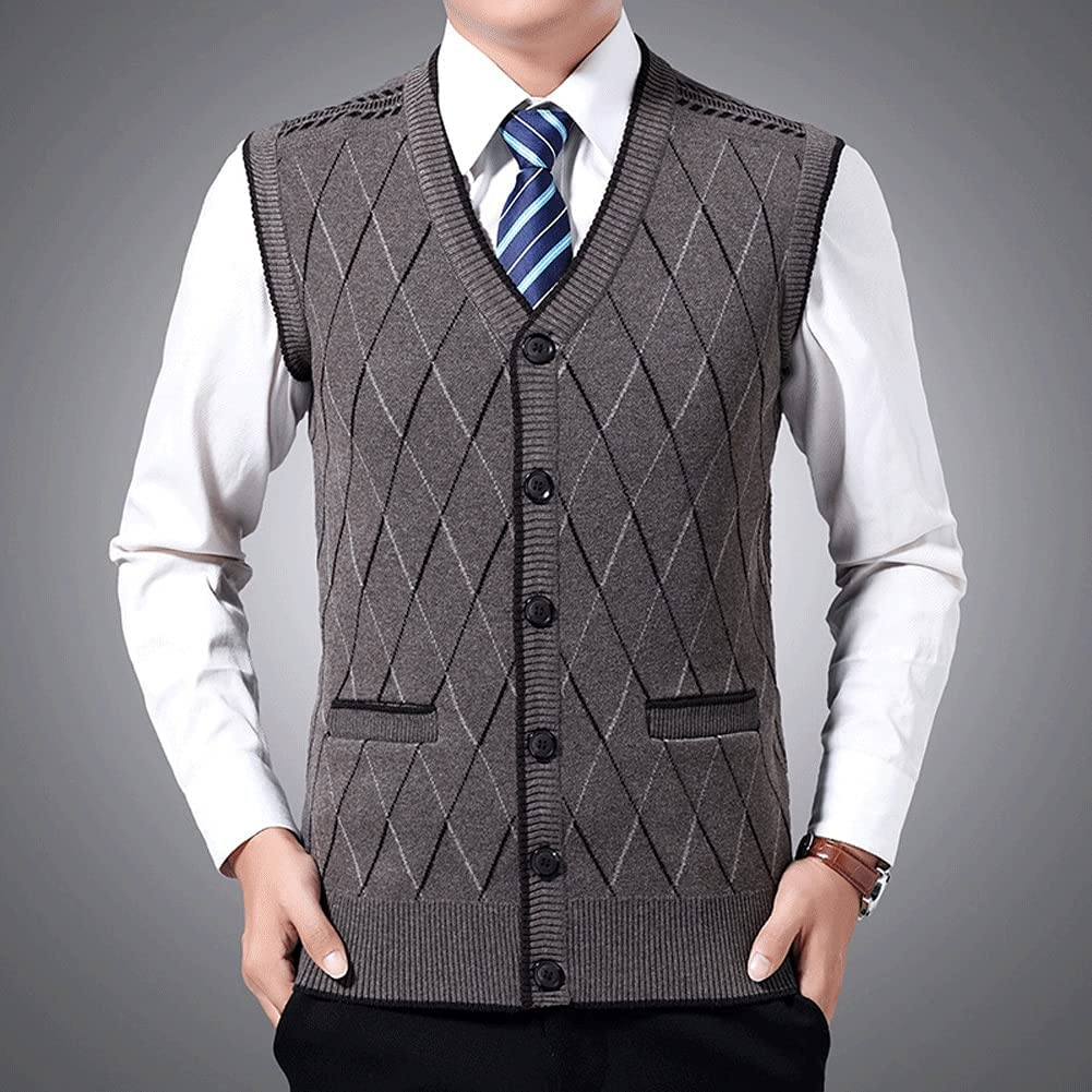 Shipping included GELTDN Sweaters Men Pullovers cheap Vest Fit Sleeveless K Slim Jumpers