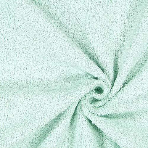 Fabulous Fabrics Tela Toalla 1 – Verde Menta — Mercancia al Metro a Partir de 0,5m — Oeko-Tex Standard 100 — para Coser de Toallas, Ropa de baño y Accesorios