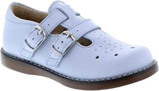 FOOTMATES Girl's Danielle Double-Buckle Perf English Sandal (Infant/Toddler/Little Kid) Lt Blue