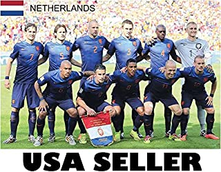 Netherlands Holland 2014 World Cup team photo POSTER 34 x 23.5 soccer football semifinalists Robin Van Persie Wesley Sneijder Arjen Robben (sent FROM USA in PVC pipe)