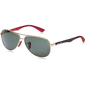 Ray-Ban Rb8313m Scuderia Ferrari Collection Aviator Sunglasses