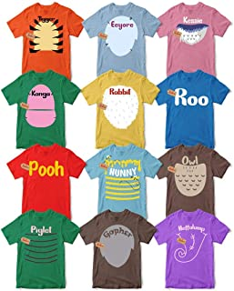 Bear & Friends Halloween Character T-Shirt Matching Team Group Family Costume Men's Women's Unisex T-shirt - Premium T-shirt - Hoodie - Sweater - Long Sleeve - Tank Top