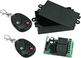 Festnight 433 MHz DC 12 V 2CH draadloze afstandsbediening RF relay ontvanger lichtschakelaar met zender voor huishoudelijk...