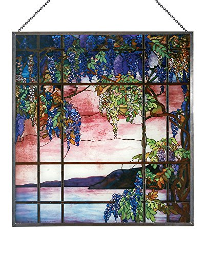 Louis Comfort Tiffany: View of Oyster Bay Glass Panel