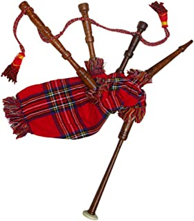 New Baby Mini Bagpipe Toy Playable Beginner Rose wood Royal Stewart Cover & Cord Free 2 Reed