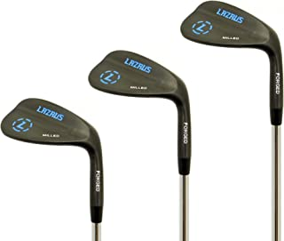 LAZRUS Premium Forged Golf Wedge Set for Men - 52 56 60 Degree Golf Wedges + Milled Face for More Spin - Great Golf Gift