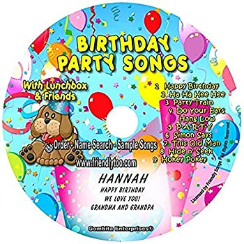 """Gombita Enterprises Name Personalized Children Music CD - FRIENDLY SONGS® Birthday Party Songs - Music CD and """"NEW"""" Digital Content Is HERE! - - CUSTOMIZE WHEN ORDERING   Standard Name CD"""