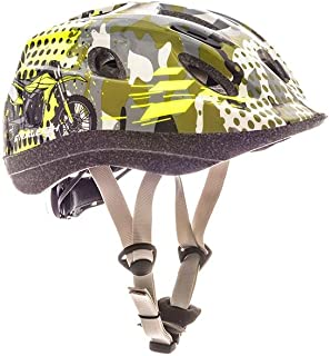 RALEIGH Mystery Camo Moto X Kids Helmet - Camo Green - Small (48-54cm)