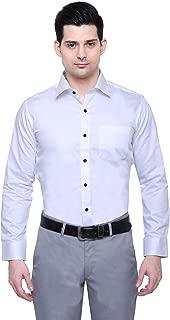 PROLIAN Men's Cotton Black Button Casual Shirt for Men Full Sleeves
