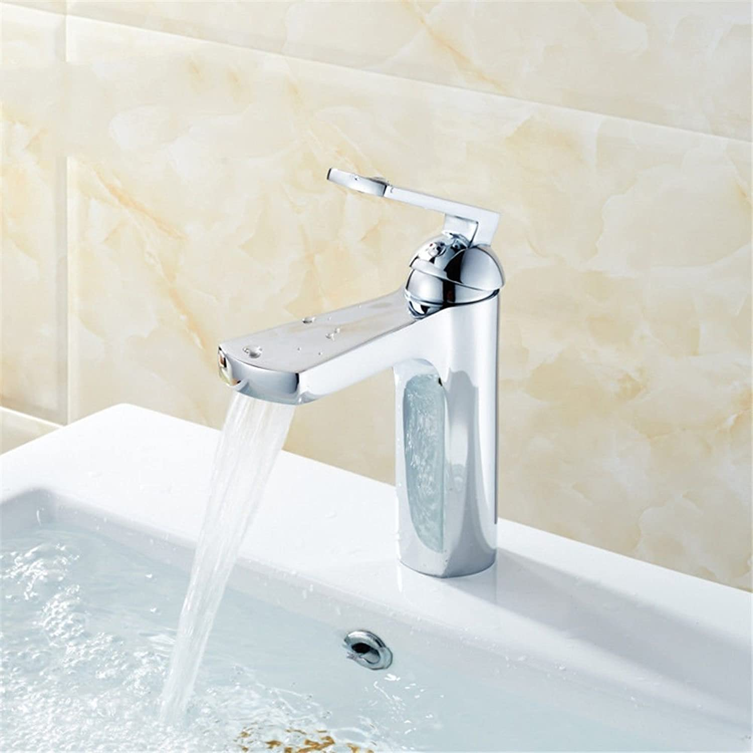 ETERNAL QUALITY Bathroom Sink Basin Tap Brass Mixer Tap Washroom Mixer Faucet Home Hotel full copper single-a-basin mixer bathroom console sink hot and cold-water faucet