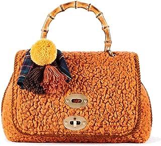 ViaMailBag Umhängetasche Modell Sophie aus Wolle, Orange mit Schultergurt